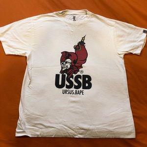 d14143da Bape Shirts | Ursus X Wtaps Xl White Tshirt | Poshmark